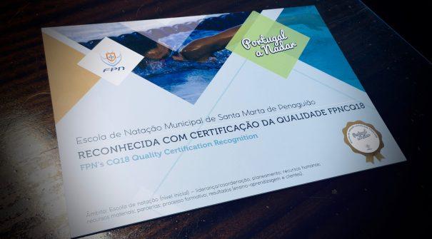 Certificado de qualidade – Portugal a Nadar