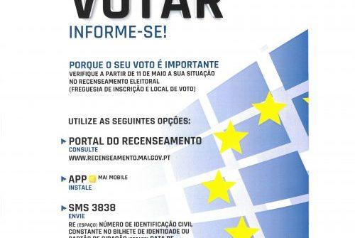Eleições para o Parlamento Europeu – 26 de Maio de 2019
