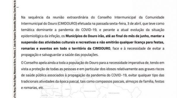 COMUNICADO – CIMDOURO