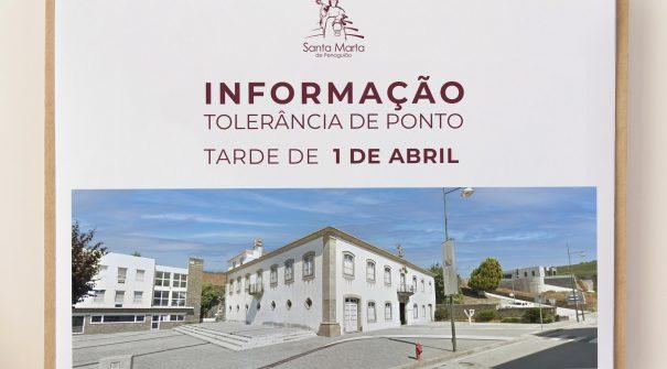INFORMAÇÃO- TOLERÂNCIA DE PONTO NO DIA 01 DE ABRIL